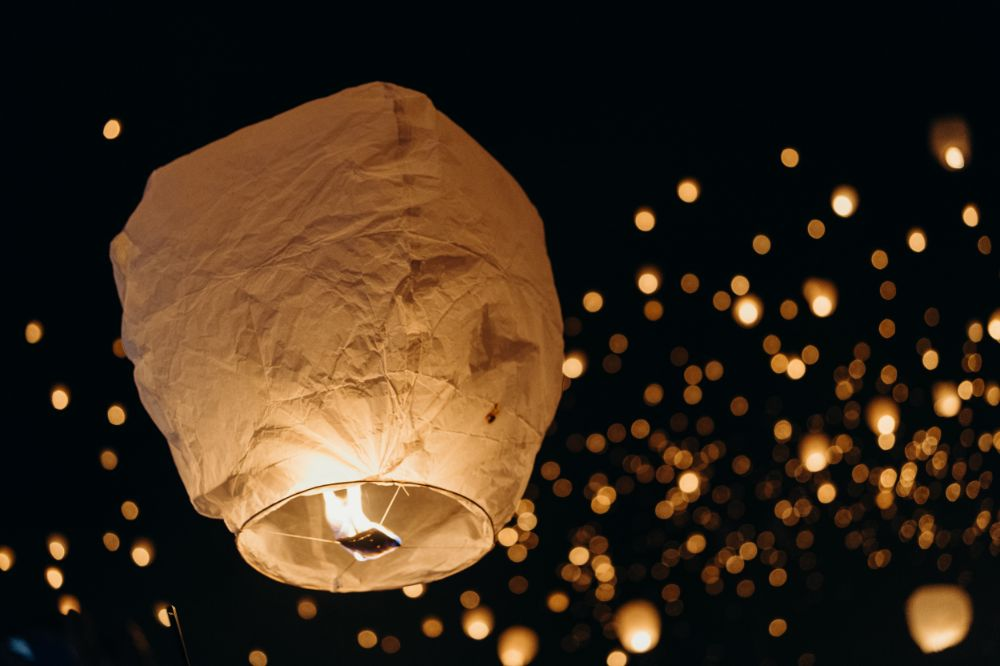 سكاي لانترن sky lantern ceremony thai