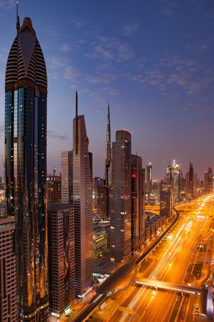 صور سفر، المعالم السياحية في الامارات طريق الشيخ زايد، دبي